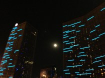 The Supermoon on the strip.