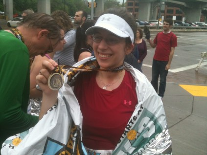 After the Pittsburgh half-marathon, 2011.