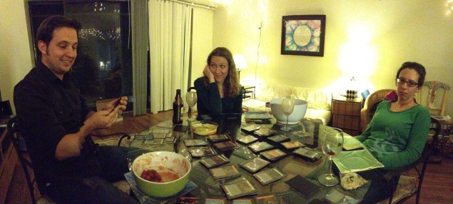 "Game nights featuring Dominion, otherwise known as ""Tim stomps everyone else to a pulp."""