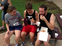 Mid-race during the Donut Dash, 2013.