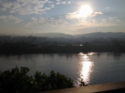 Monongahela river, east of the city.