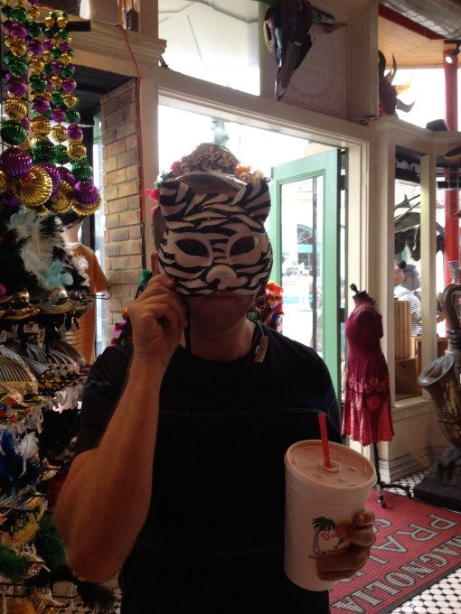 Mardi Gras masks in New Orleans