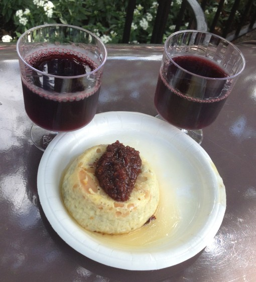 Almond Crusted Blue Cheese Souffle with Fig Jam at Epcot