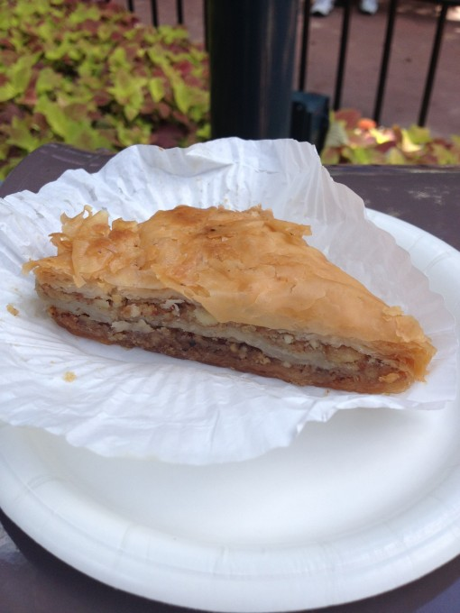 Morocco's Baklava at the Epcot International Food and Wine Festival