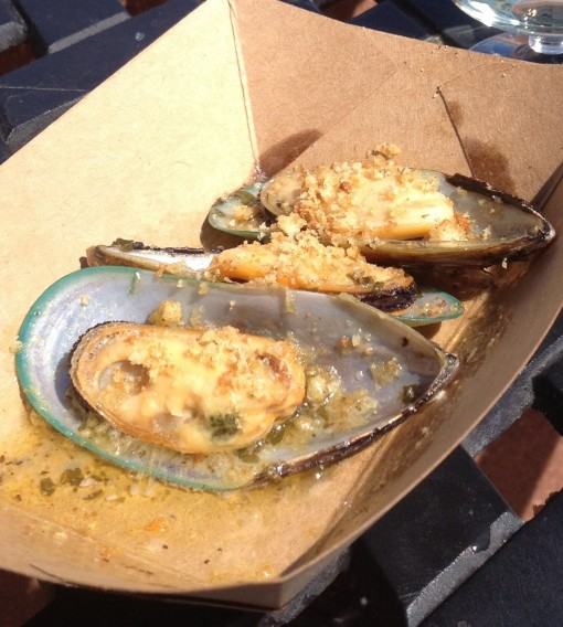 Steamed Green Lip Mussels with Garlic Butter & Toasted Bread Crumbs in New Zealand at Epcot