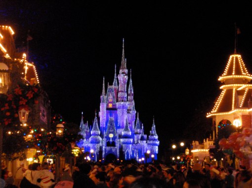 Christmas time at Disney World