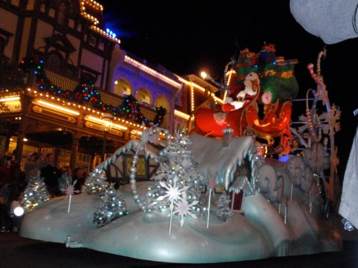 Holidays at the Magic Kingdom in Disney World.