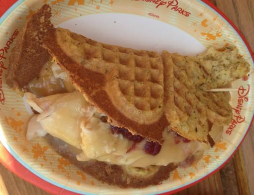 Savory waffles at Epcot