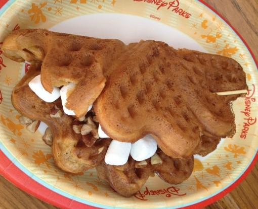 Sweet potato Casserole waffle at Epcot
