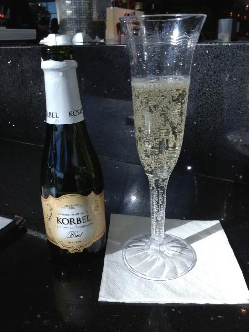 Airport chamagne mini bottles!