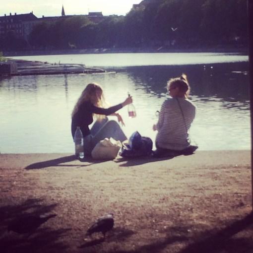 Outside Drinking In Copenhagen