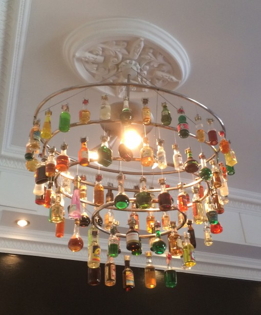 Chandelier at the Mni Bottle Gallery; Oslo, Norway