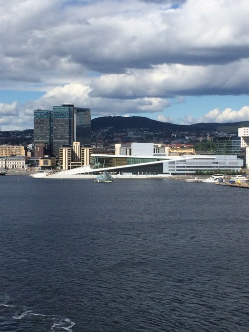 View of Oslo Opera House from DFDS Seaways Pearl