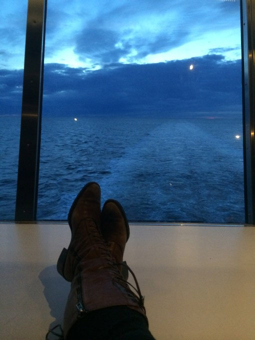 Sunset on the DFDS Seaways Pearl From Oslo to Copenhagen