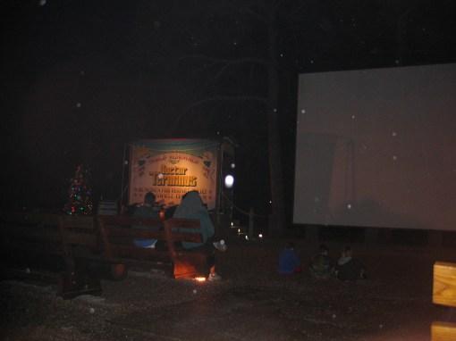 Campfire movie at Disney's Fort Wilderness Campground in Walt Disney World