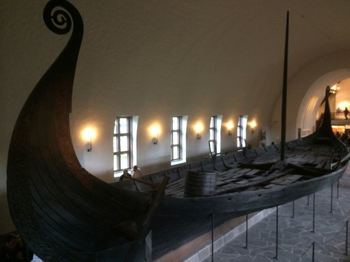 The Oseberg Ship at the Viking Ship Museum in Oslo, Norway.
