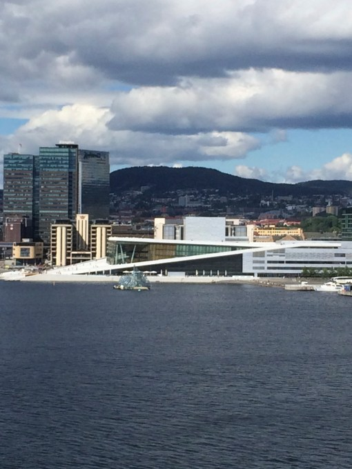 View of Oslo Opera House from DFDS Seaways Ferry