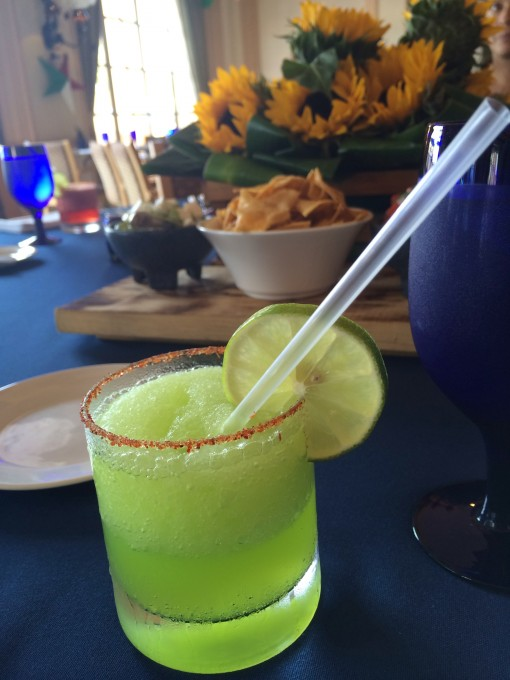 Midori Margarita at El Cafe Mexicano at The Ritz Carlton, Cancun