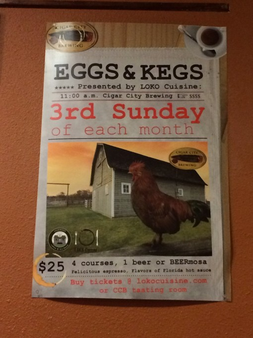 Eggs and Kegs brunch at Cigar City Brewing in Tampa, FL