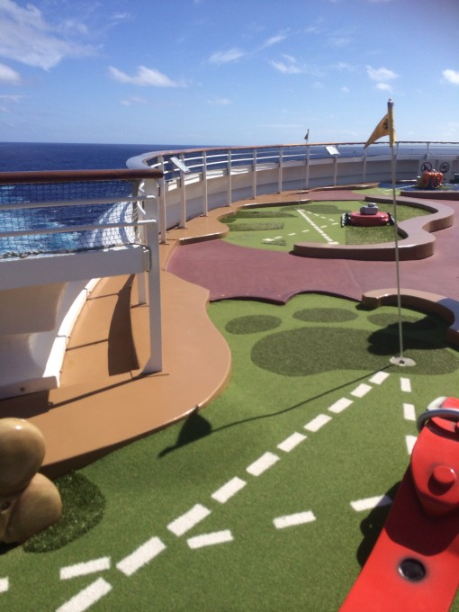 Mini-golf on the Disney Fantasy- Disney Cruise LIne