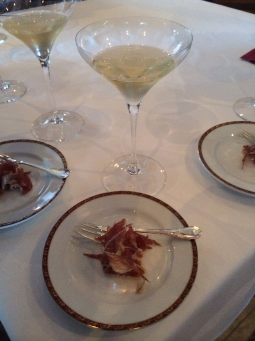 Jamon Iberico Pata Negra at Remy's Champagne Brunch on the DIsney Fantasy