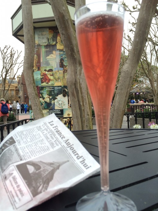 Kir Royal in France- Drinking around the world at Epcot