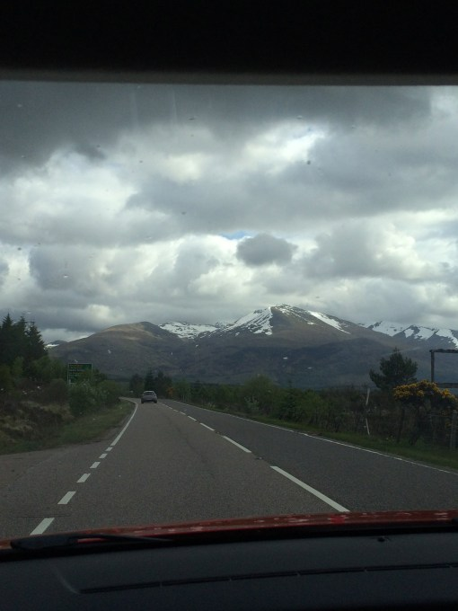 View on the drive from Glasgow to the Highlands in Scotland