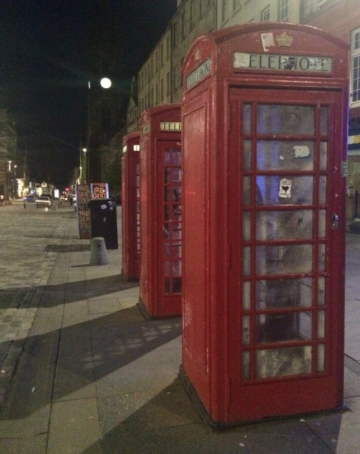 Phone booths in Edinburgh