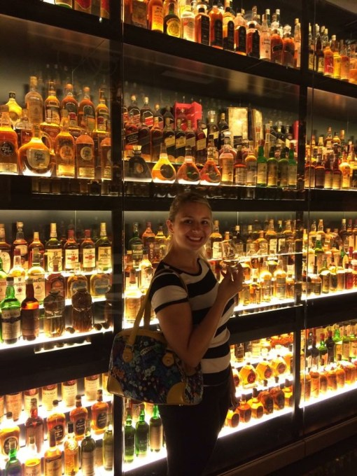The largest private collection of scotch in the world at The Scotch Whisky Experience in Edinburgh, Scotland