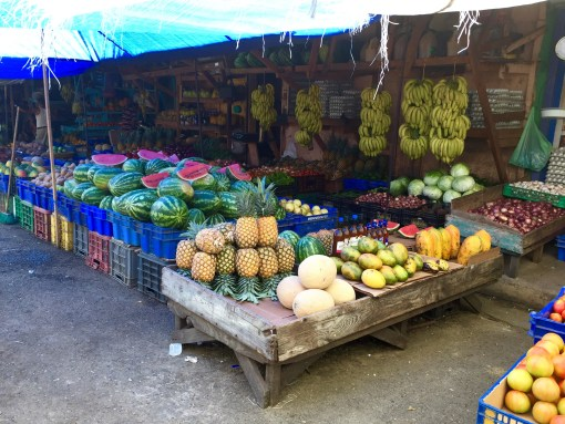 Fresh Fruit Market in Puerto Plata, Dominican Republic