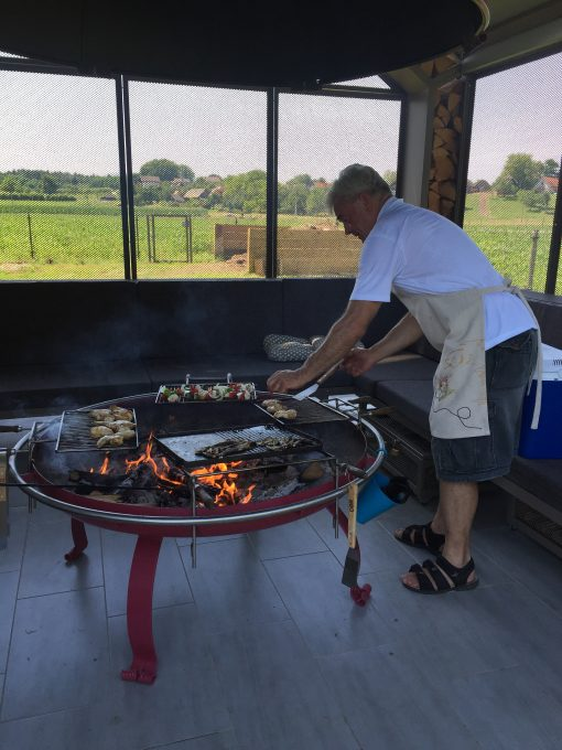 Firing up the grills at Big Berry in Primostek, Slovenia
