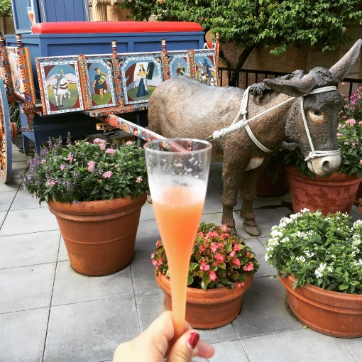 The Donkey Cart at the Italy Pavilion in Epcot