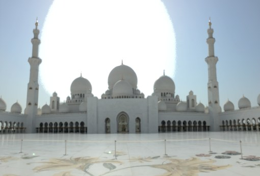 The Sheikh Zayed Grand Mosque in Abu Dhabi is one of the most beautiful places in the world.