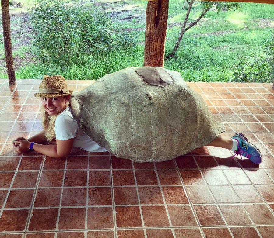 Bucket list complete. Visiting the Giant Tortoises in the Galapagos Islands