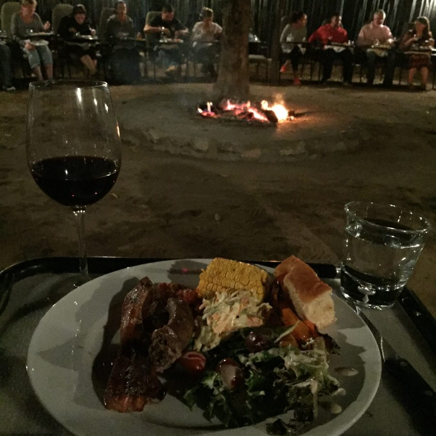 Braai in the boma at Moditlo River Lodge in Hoedspruit, South Africa for South Africa's National Heritage Day.