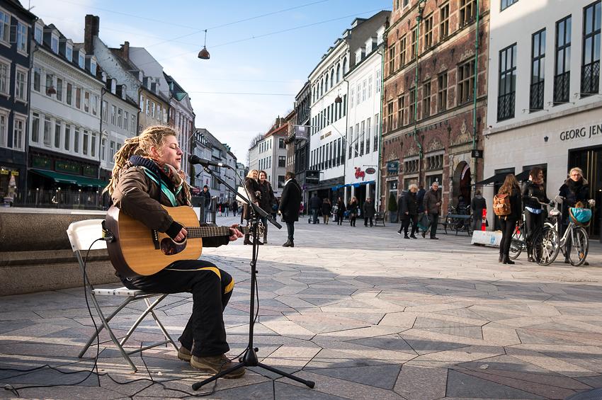 Street Musician In Copenhagen
