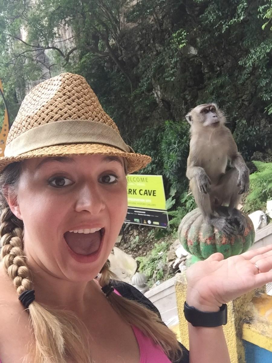 Monkeys at Batu Caves in Kuala Lumpur