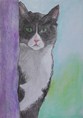 ~ Harold in pastels and charcoal (finished), A3