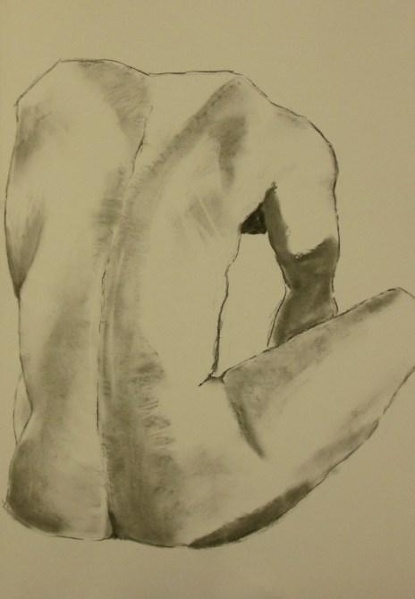 Mags Phelan, charcoal nude