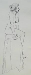 pen, 10 minutes, continuous line, A2