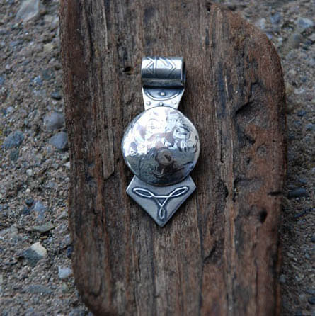 keltischer mokume gane Silber Anhänger