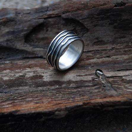 maguco by m. noe Silber Ring mit Spritztechnik