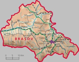Judet Brasov or Brasov County. Magura is nearest to Zarnesti, in the bottom centre of the map.