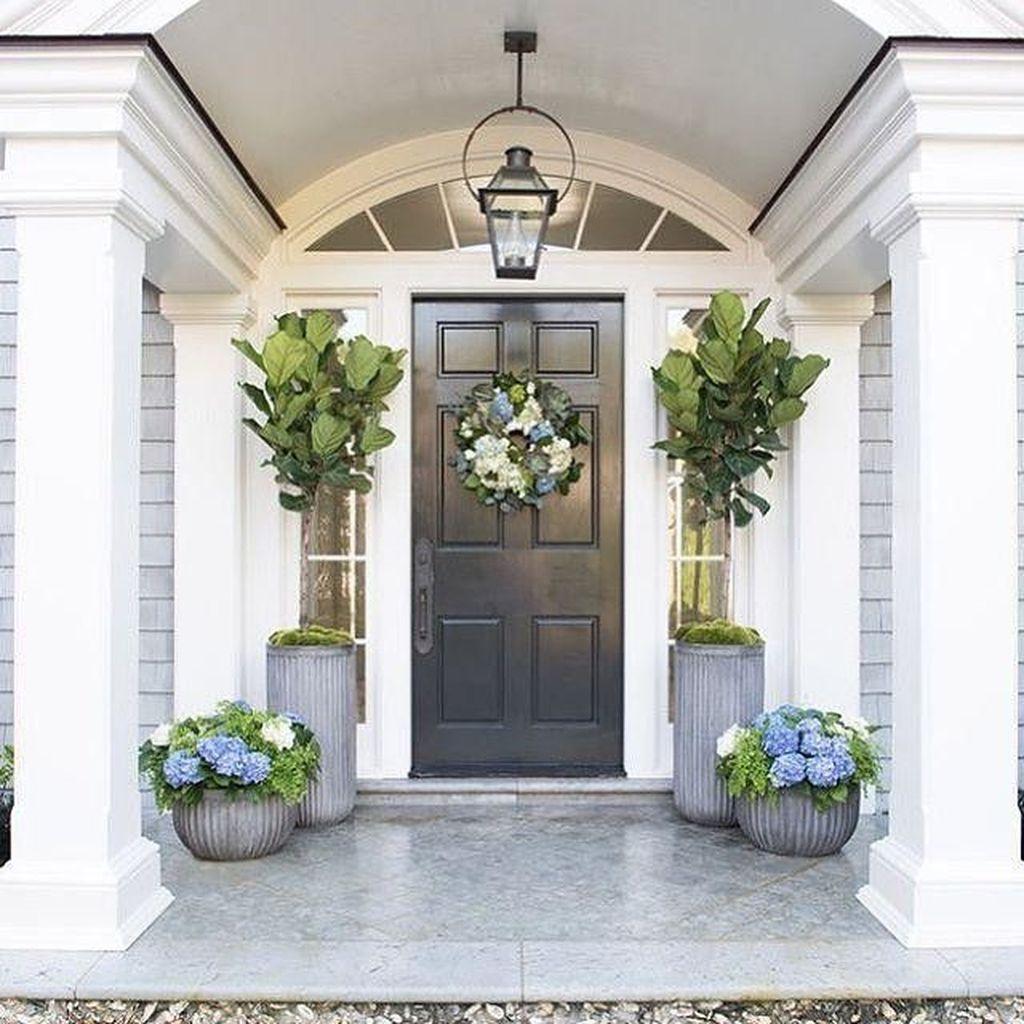 Inspiring Spring Planters Design Ideas For Front Door 23