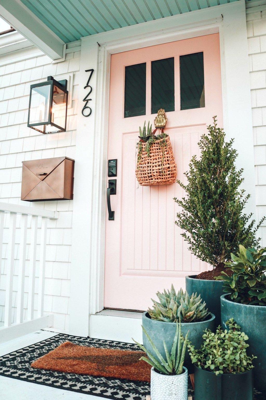 Inspiring Spring Planters Design Ideas For Front Door 29
