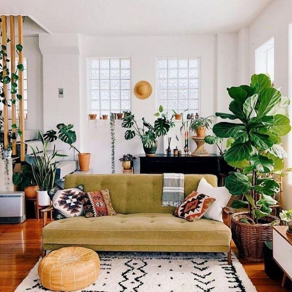 Amazing Bohemian Farmhouse Living Room Design Ideas 02