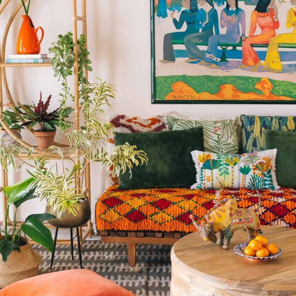 Amazing Bohemian Farmhouse Living Room Design Ideas 06