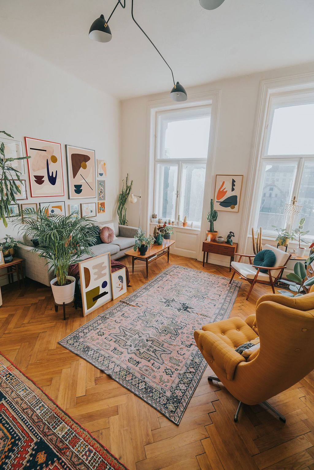 Amazing Bohemian Farmhouse Living Room Design Ideas 10