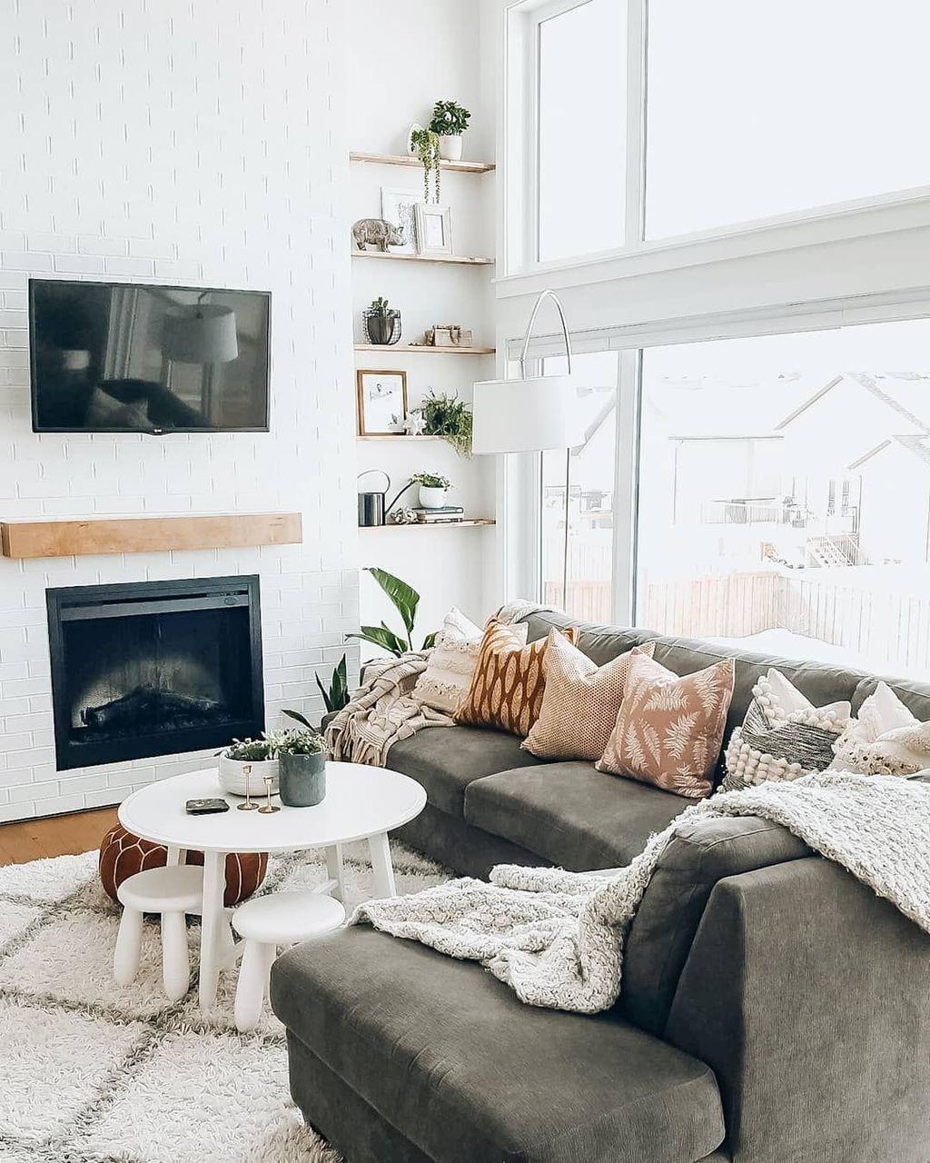 Amazing Bohemian Farmhouse Living Room Design Ideas 11