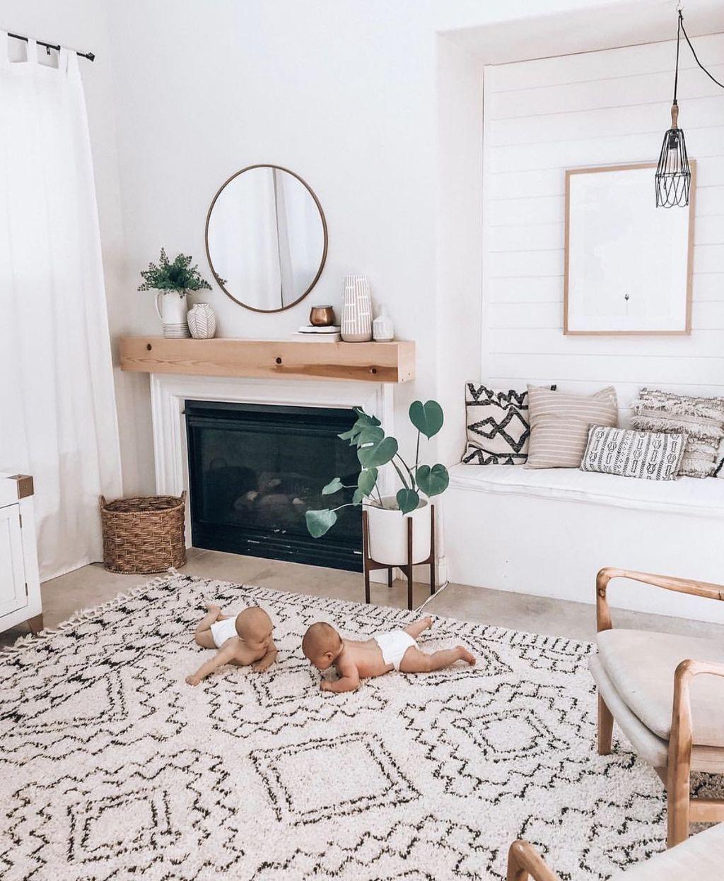 Amazing Bohemian Farmhouse Living Room Design Ideas 19
